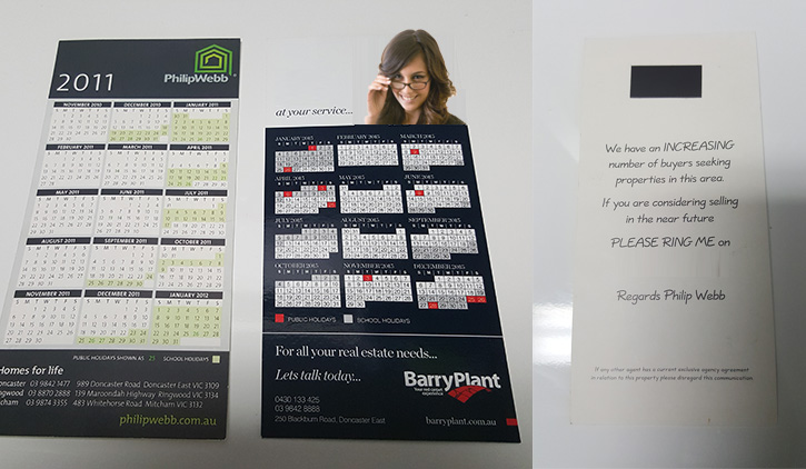 dl magnetic tab calendars cheap online printing